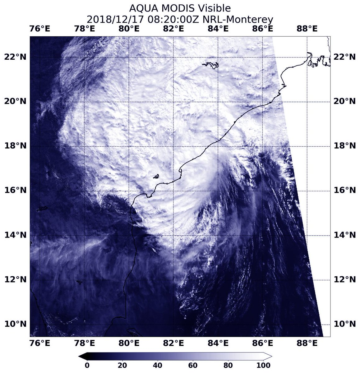 NW Indian Ocean - NASA Catches India Landfall of Tropical Depression #Phethai NASA's Aqua satellite passed over the Northwestern Indian Ocean and captured a visible image of Tropical Depression Phethai after it made landfall in southeastern India. https://t.co/3AX2FSUVVo