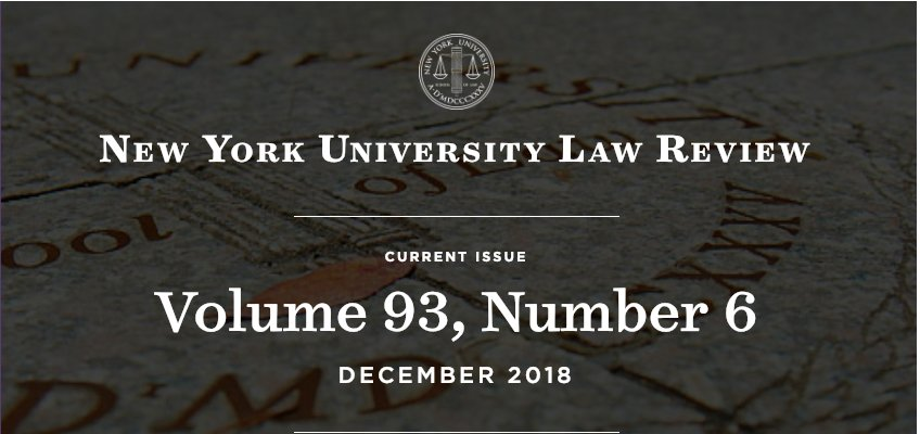 Nyu Law Review Nyulawreview Twitter