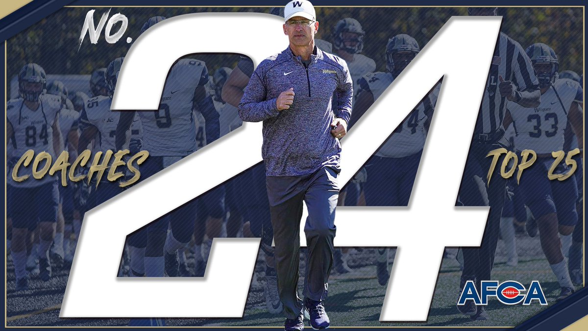 For the 2nd straight year @WingateFootball finishes the season in the top 25, checking in at #24 in the final @WeAreAFCA poll of the year!!  STORY | http://bit.ly/WUFB24th #OneDog #WUFB