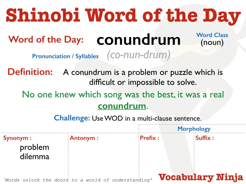 Vocabulary Ninja on Twitter: