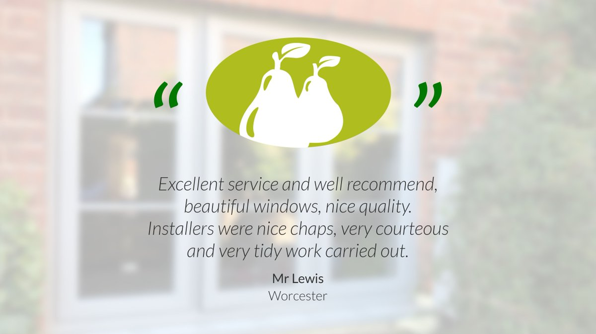 When ever we carry out any work we recognise that we're someone's home.   We always ensure we're courteous and tidy.  #worcestershirehour