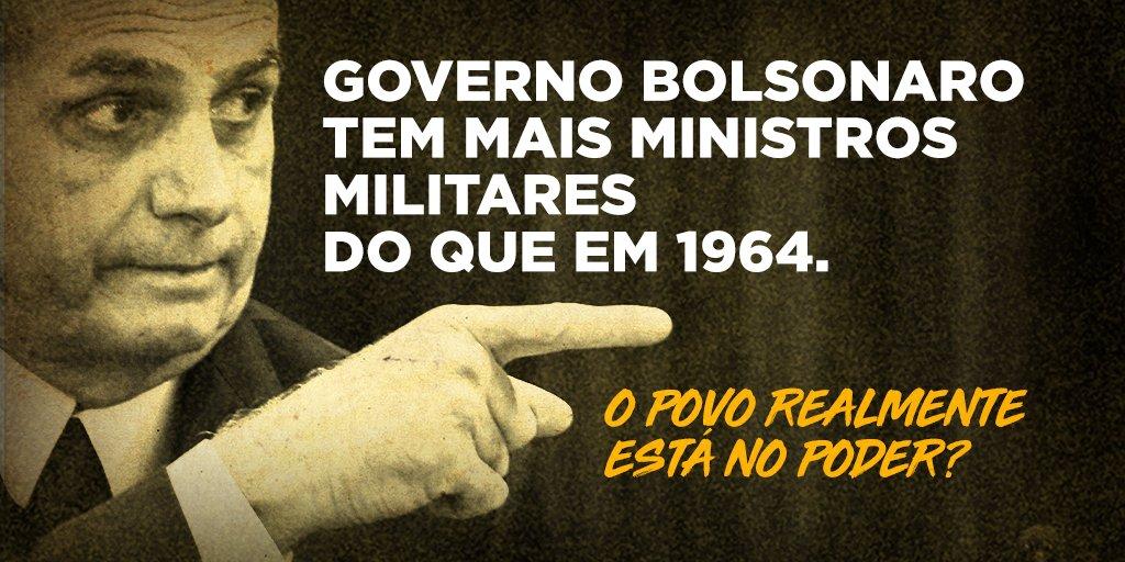 Grande ídolo do regime autoritário e de Brilhante Ustra, um dos maiores torturadores da ditadura militar, Bolsonaro evidencia seu apreço pelos anos de chumbo na sua composição ministerial.  👉🏾 Saiba mais na reportagem: https://t.co/pxOdi7j27K