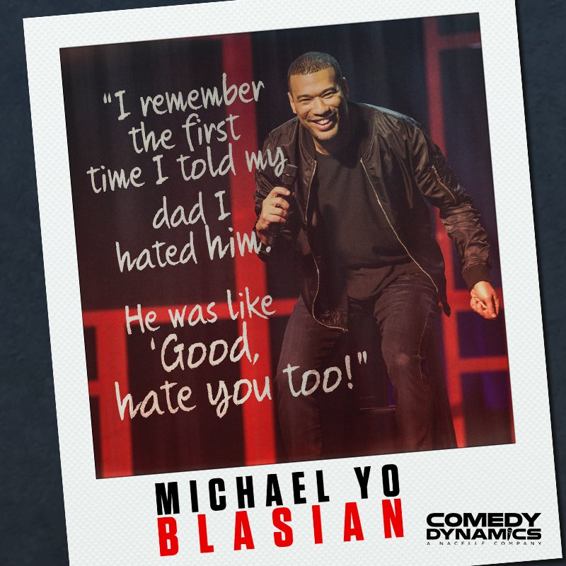 #MotivationMonday There's nothing quite as special as the bond between a father and son. This holiday season, give your dad the gift of comedy with Michael Yo's #Blasian. . . . #YoBlasian #ComedyDynamics #HolidaySeason #GiftIdeas
