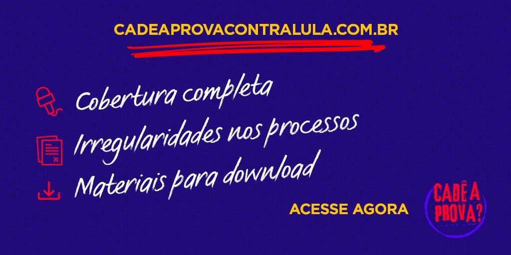 No site https://t.co/BnIsflGdeV você fica por dentro de todos os vícios do processo e da perseguição contra @LulapeloBrasil acesse e compartilhe o conteúd#CadêAProvaContraLulao!