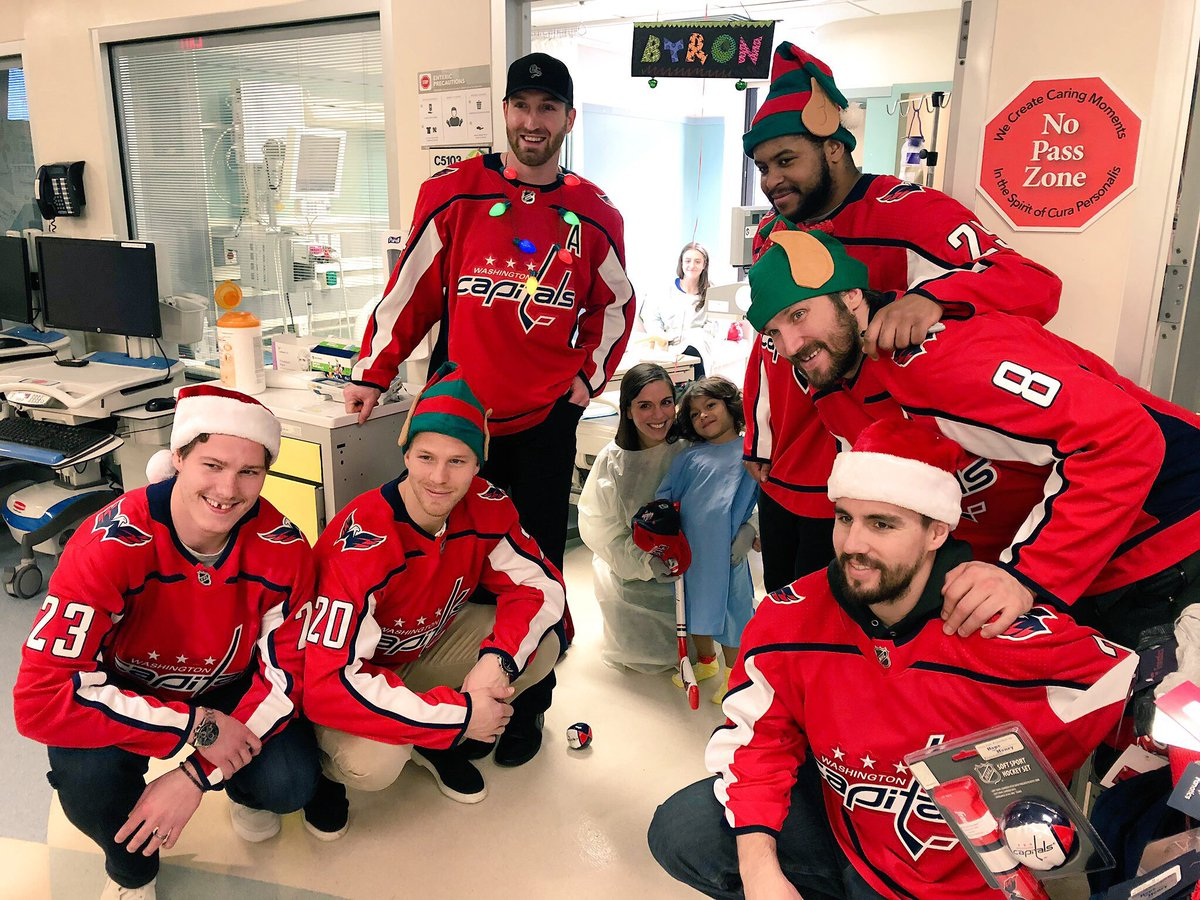 Great to meet so many strong kids today at @MedStarGUH! 💪  #ALLCAPS #CapsCare