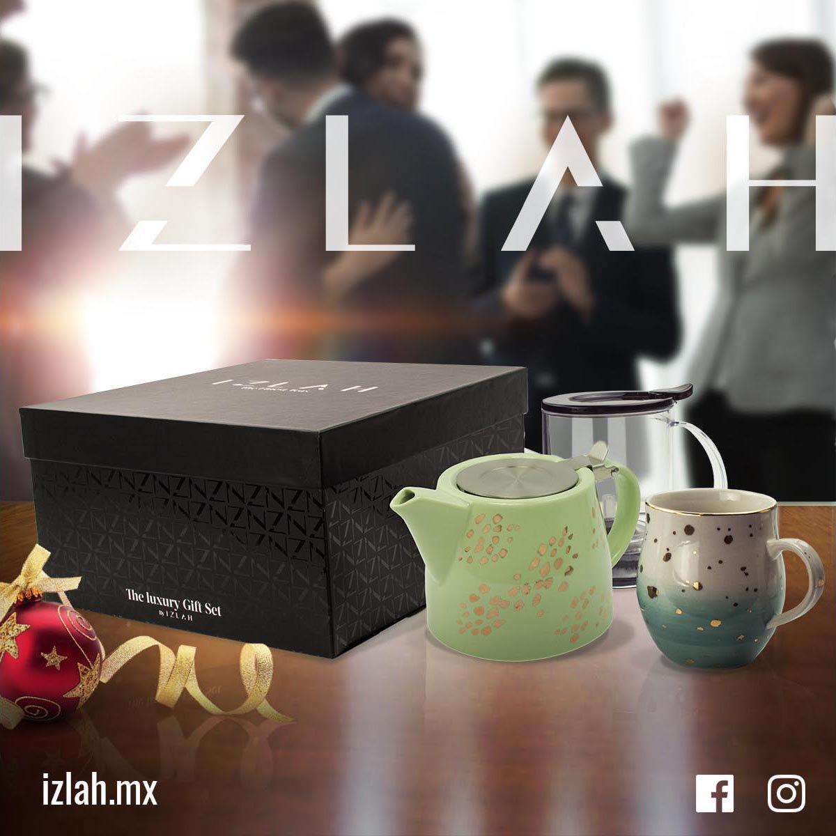#TEALOVER #IZLAH Diseñó este práctico Gift Set para nuestros #tealovers que les encanta ver como las hojas despiertan en nuestro Teamaker, y servir el Té directo de la tetera. En estas épocas de frío una taza de Té es un abrazo reconfortante.