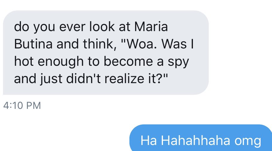 Today's moment of zen is brought to you by Maria Butina.