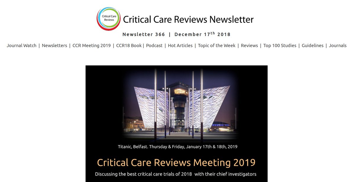 Critical Care Reviews on Twitter: