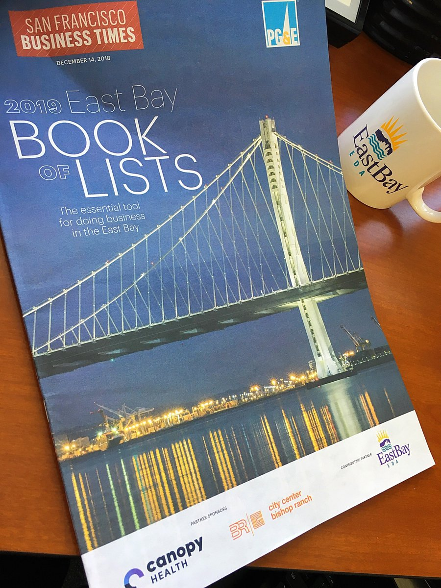 Book Of Lists Your Essential Tool For Doing Business In The Eastbay Eastbayeda Is Proud To Be A Contributing Partner With Sfbusinesstimes