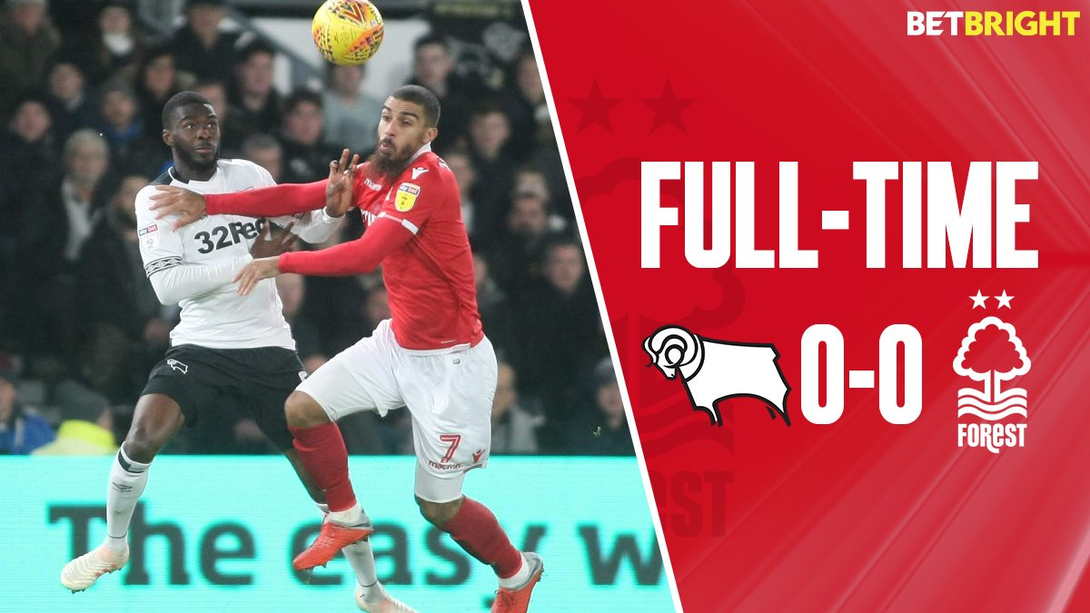 Full-time: Derby 0-0 #NFFC  Report and reaction to follow from Pride Park...