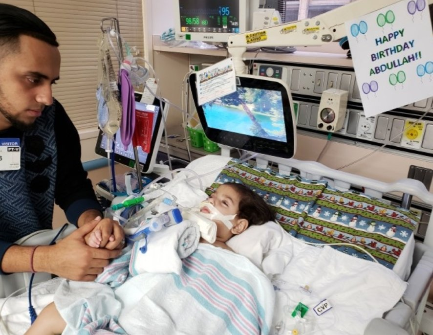 Because of Trump's Muslim ban, the mother of a 2-year-old U.S. citizen on life support can't be by his side.  This is what happens when you enact policy banning millions of people from the U.S. based on religious prejudice.   Demand that she'd be allowed entry.   RETWEET THIS!