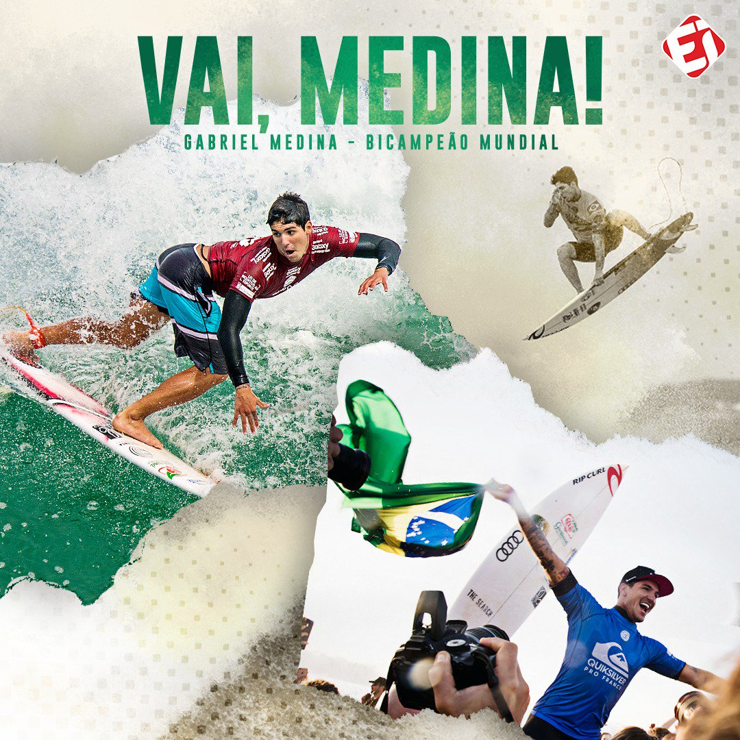 VAI, MEDINA!!!! O brasileiro acaba de garantir o BICAMPEONATO Mundial de Surfe Pipe Masters, no Havaí! PARABÉNS, GAROTO! AQUI É BRASIL, P@$3#!!!! 🏄♂🌍🇧🇷