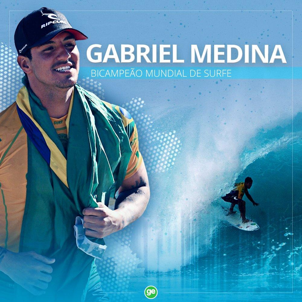 É do Brasil! Gabriel Medina conquista o bicampeonato mundial de surfe ao superar o sul-africano Jordy Smith e avançar à final em Pipeline, no Havaí https://t.co/vCEh7z9wNR