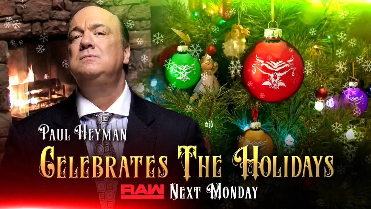WWE Announces RAW Women's Title Match, Paul Heyman Segment And More For Christmas Eve RAW Episode