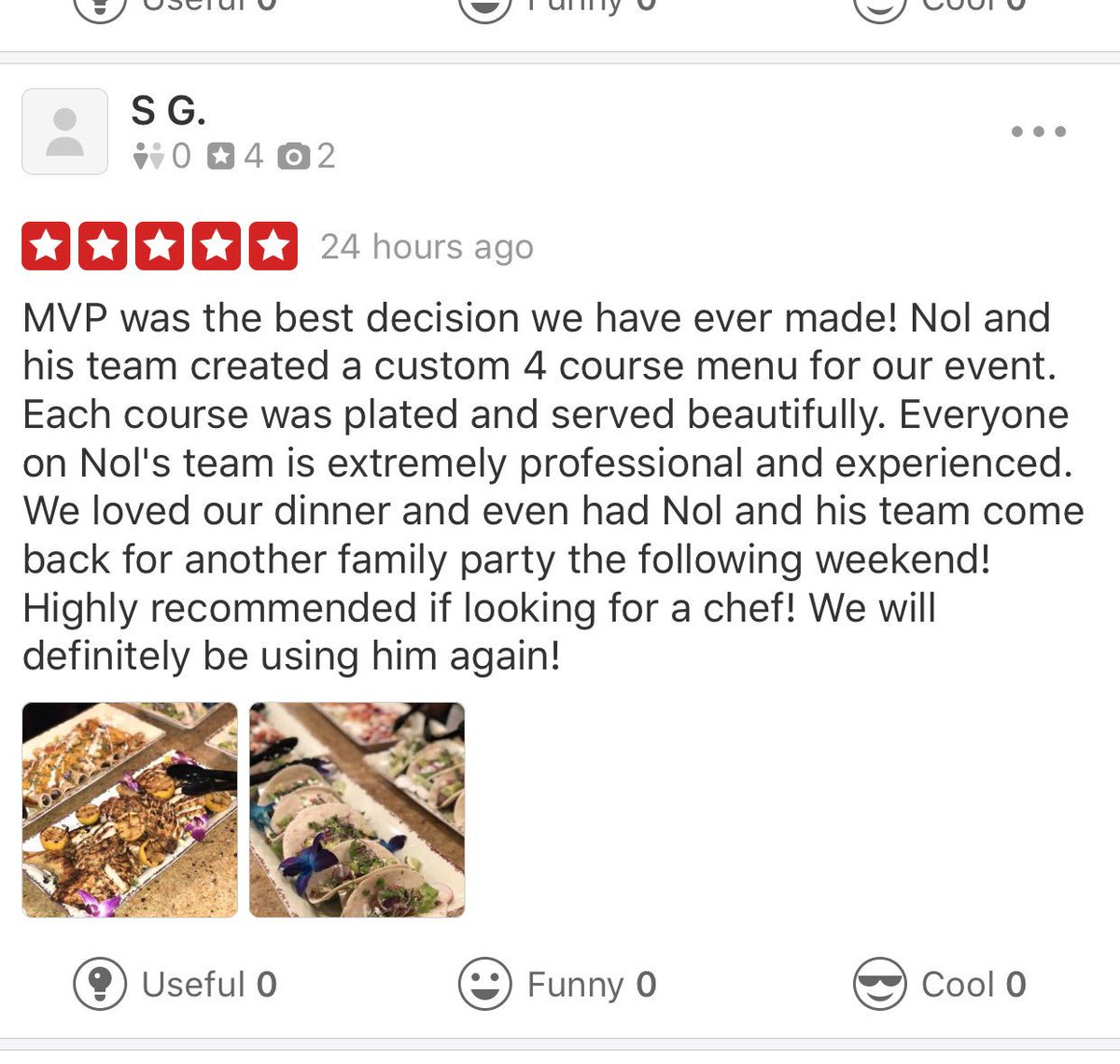 Recent Yelp Reviews!