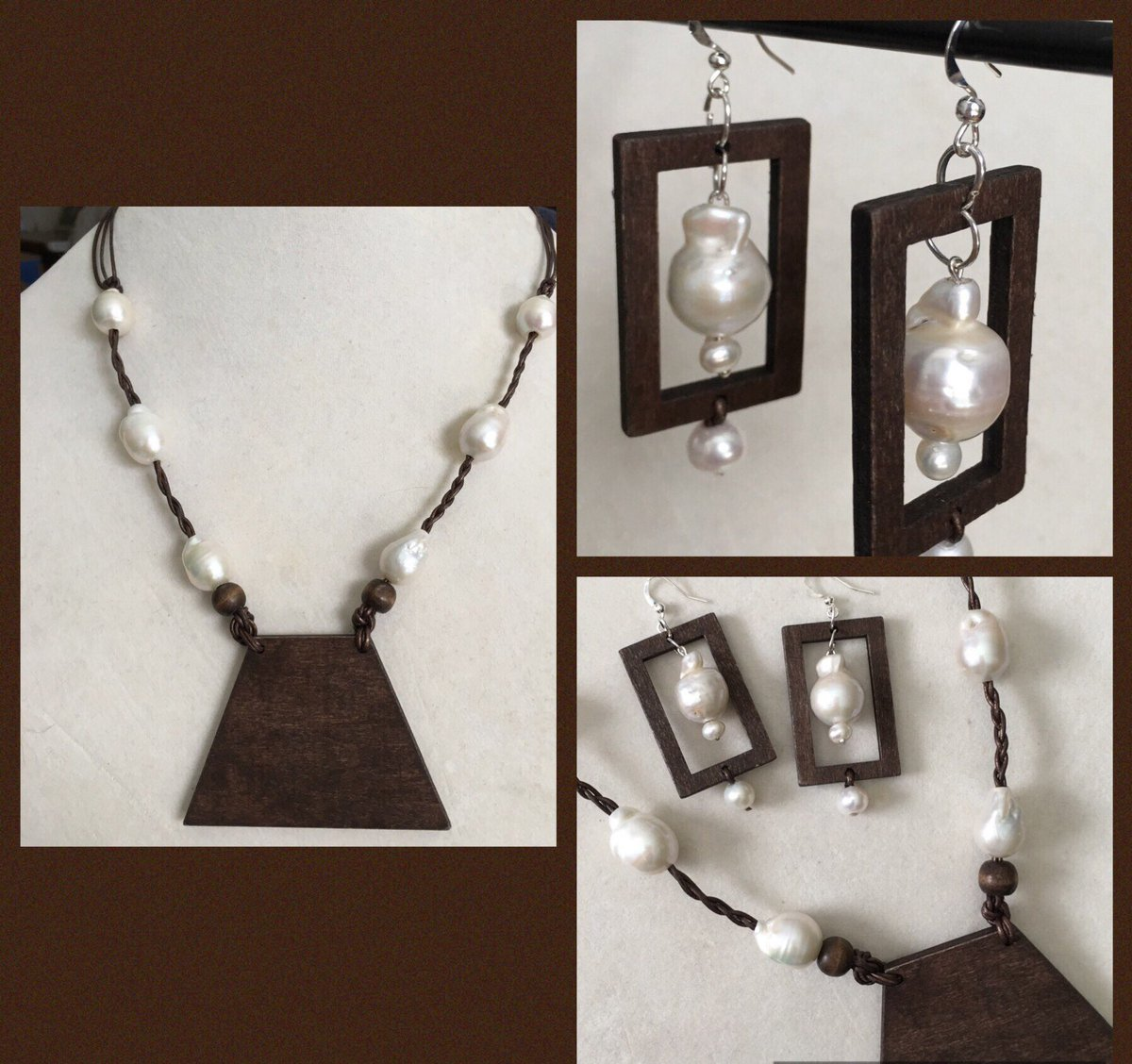 #bibnecklace #etsy #pearlnecklace #handmade #custompiece #pearlearrings #hugepearls #genuinepearls #baroquepearls  https://etsy.me/2USFliY pic.twitter.com/ZwHlBUQOfY