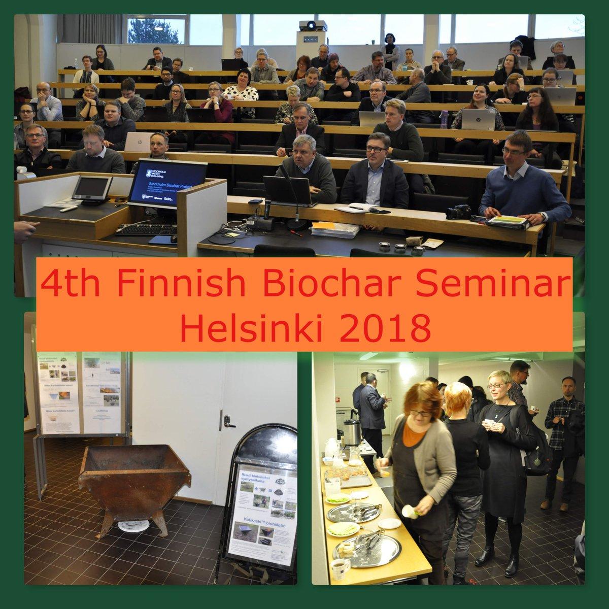 Suomen Biohiiliyhdistys kokoontui erinomaisella osallistujajoukolla, myös @BioKierto paikalla kuten mm @helsinkiuni @LukeFinland @ramboll_fi @UniEastFinland @uniofjyvaskyla @NTNU