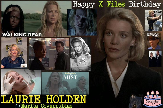 Happy birthday to Laurie Holden, born December 17,1969.