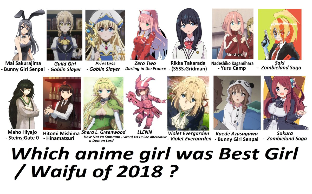 "Jmantime on Twitter: ""Who is the Best Anime Girl of 8 ? - if"
