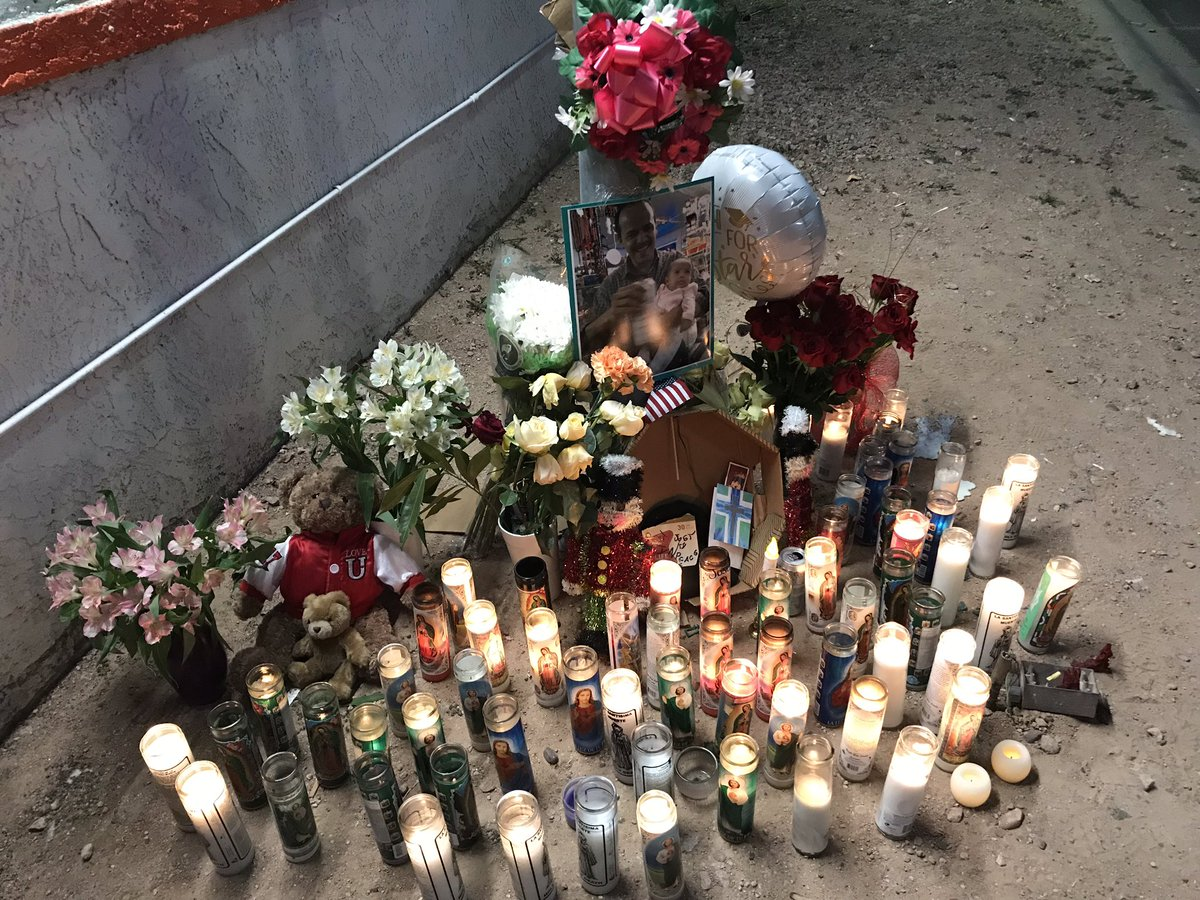 """NEXT ON #ABC15 @ 6: A memorial has grown outside an east valley convenience store for an employee shot and killed during a """"robbery gone bad"""". How customers are remembering Jose Alcaraz Hernandez. <br>http://pic.twitter.com/0idFca01ot"""