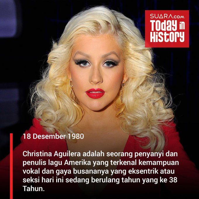 Happy Birthday Christina Aguilera.. .