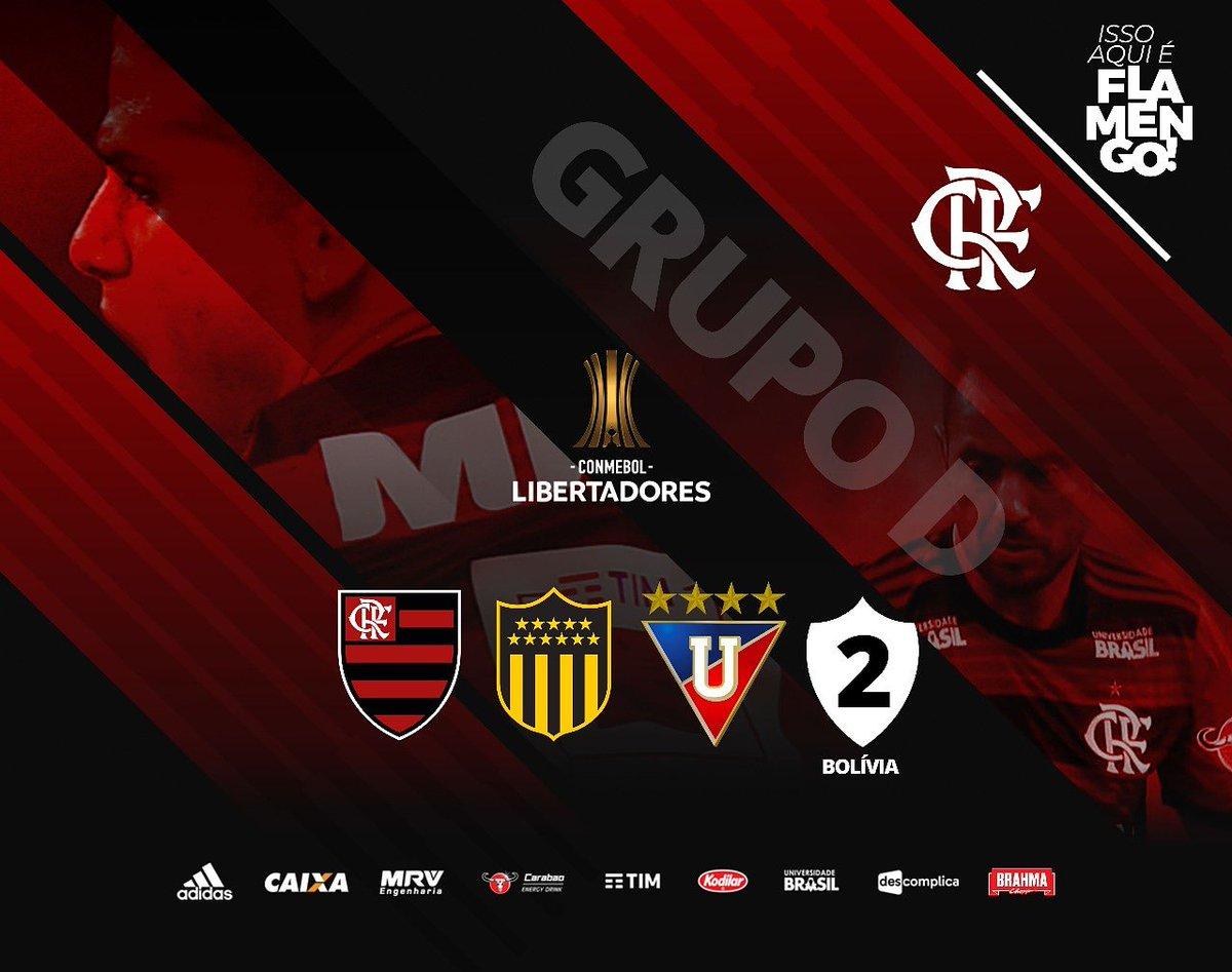Grupo definido para a Copa Conmebol Libertadores 2019. Agora é foco na próxima temporada e nos desafios. Pra cima deles, Flamengo!  Boa noite, Nação! #CRF