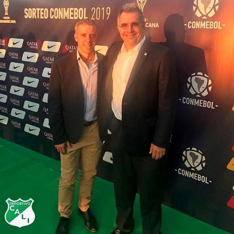 Estuvimos presentes en Paraguay para el sorteo de la Copa @Sudamericana del próximo año. ¡Un nuevo desafío en el @AsoDeporCali!