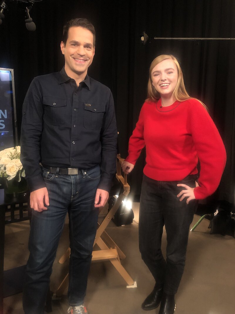 Catching up with this year's youngest #GoldenGlobes nominee, @eighthgrademov star @ElsieKFisher. One day I hope to be as cool as she is. Our interview is coming soon on @imdb!