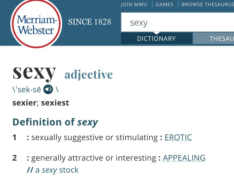 sexy definition merriam webster
