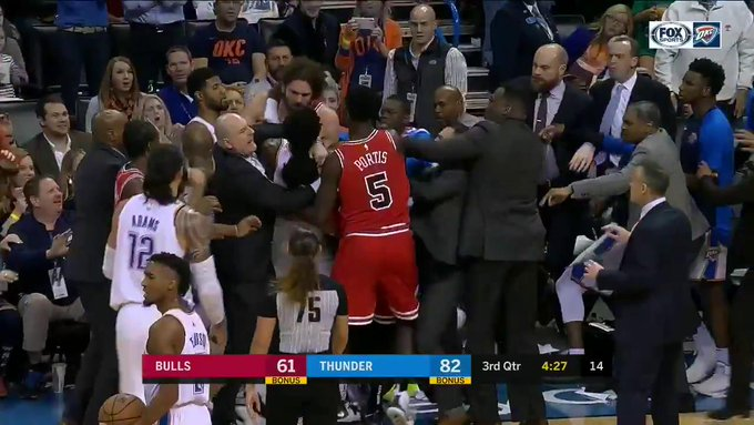 DuqqF4OU8AAhmoc?format=jpg&name=small - Russell Westbrook, Kris Dunn, Robin Lopez, & More Involved In Scuffle (Photos)