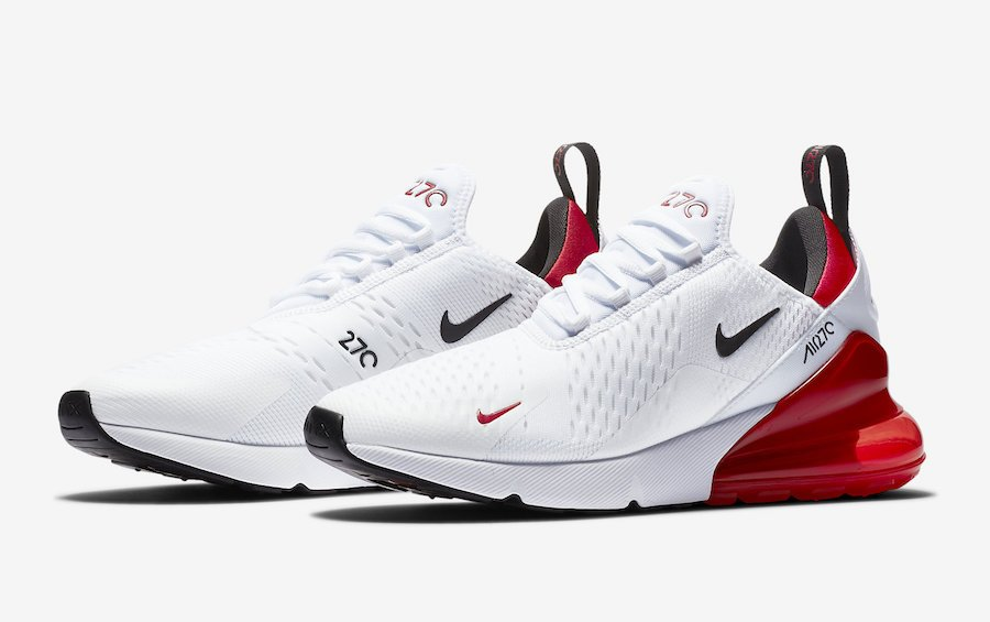 nike 270s red and black cheap online