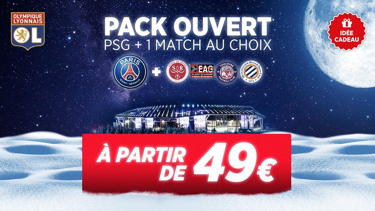 Vous manquez d'idées pour Noël ? Découvrez notre pack PSG + 1 match au choix ! 👊  👉 http://lyonna.is/pack-ouvert-psg