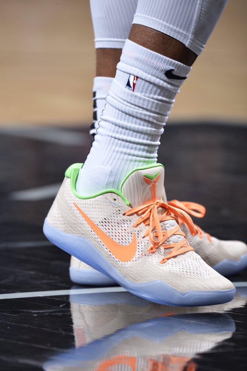 "hot sale online 9f324 8fa6f DeMar DeRozan in the the ""Peach Jam"" Nike Kobe 11 against  Philadelphiapic.twitter.com SSKQToUFbd"