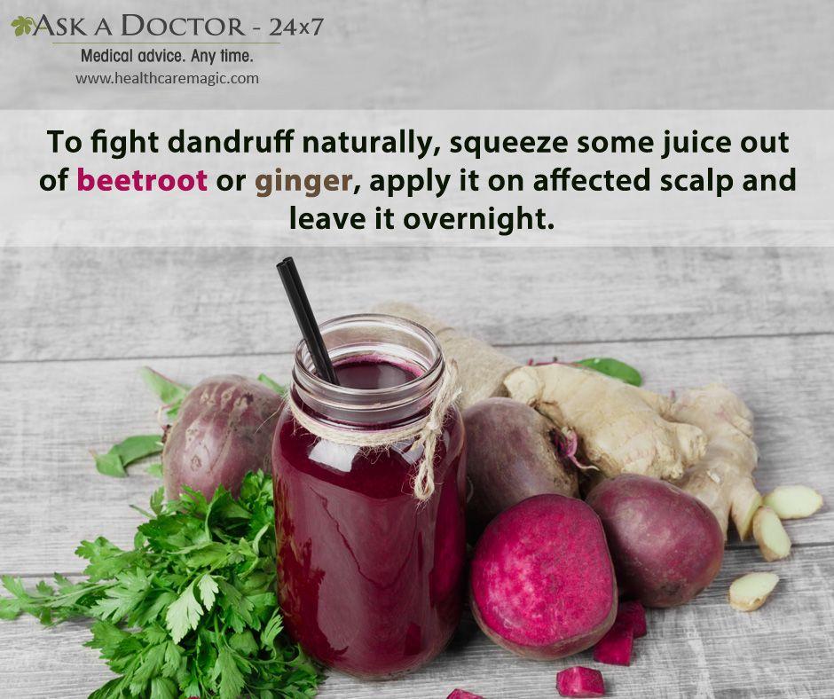 Largest Health Q&A site. Ask a Doctor Online at     https://t.co/kQBzB69Ql9  #Applybeetrootjuiceonscalp #gingerrootjuice#fightawaydandruff#AskADoctor#DailyHealthTips#HealthcareMagic