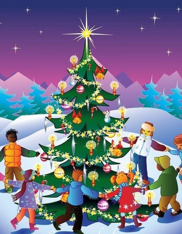 Первым днем, новогодний праздник картинки для детей