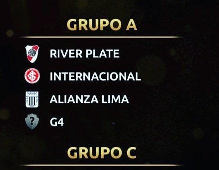 Grupo A  @Libertadores 2019:  @CARPoficial @SCInternacional @ClubALoficial  G4 (@SaoPauloFC, @CATalleresdecba, @CDPalestinoSADP,@DIM_Oficial)