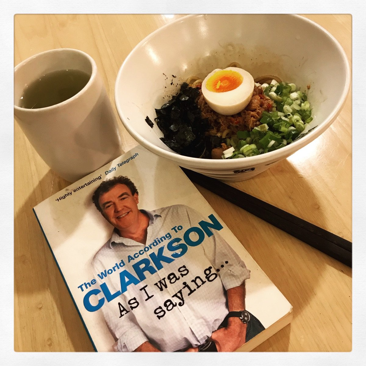 A very late lunch with @jeremyclarkson