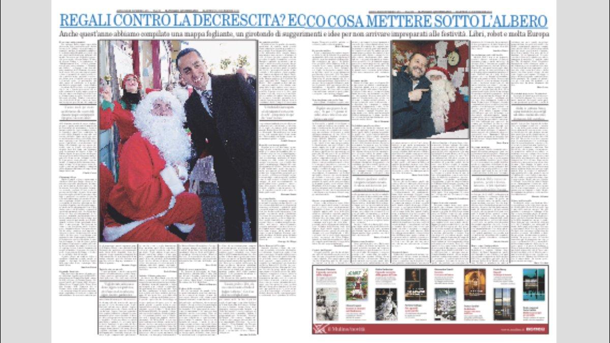 Non avete ancora idea di cosa regalare a Natale? Oggi sul Foglio pazzi consigli foglianti, con due bellissime pagine da non perdere :-) https://t.co/zA0yxtku0O