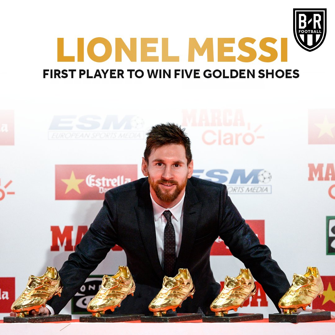 Lionel Messi will be officially presented with his fifth European Golden Shoe today 🔥