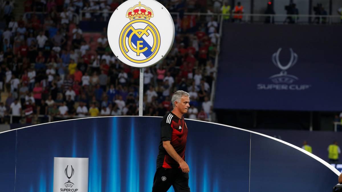 Mourinho deja el Manchester United y entre sus opciones está volver al Real Madrid.  ¿Queréis a Mourinho de vuelta en el Real Madrid?  #UCL @Nissan_ESP