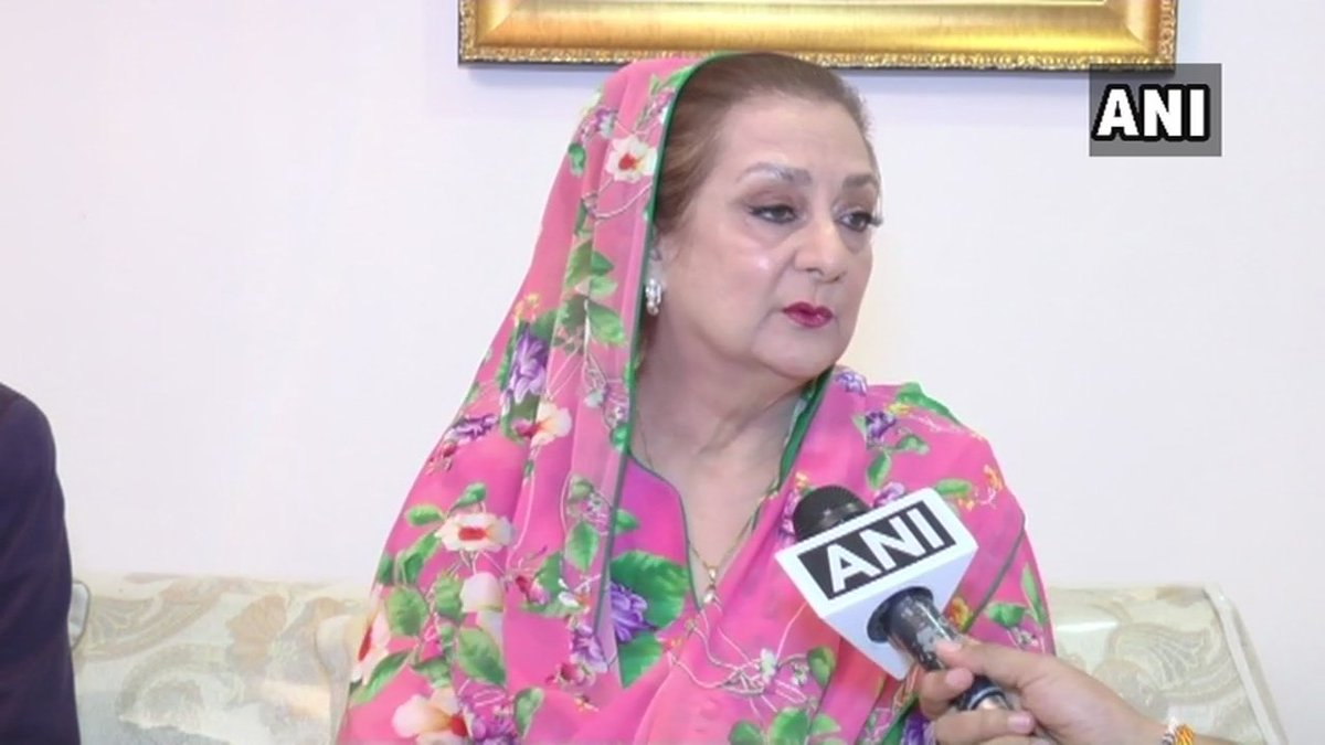 Saira Banu on approaching PM & Maharashtra CM alleging threat from builder Samir Bhojwani: I want PM to pay attention to this matter. CM is making efforts into this, we hope some good result will come after PM also intervenes. Bhojwani is taking advantage of Dilip Sahab's illness