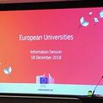 Image for the Tweet beginning: European Universities -info alkamassa Brysselissä.