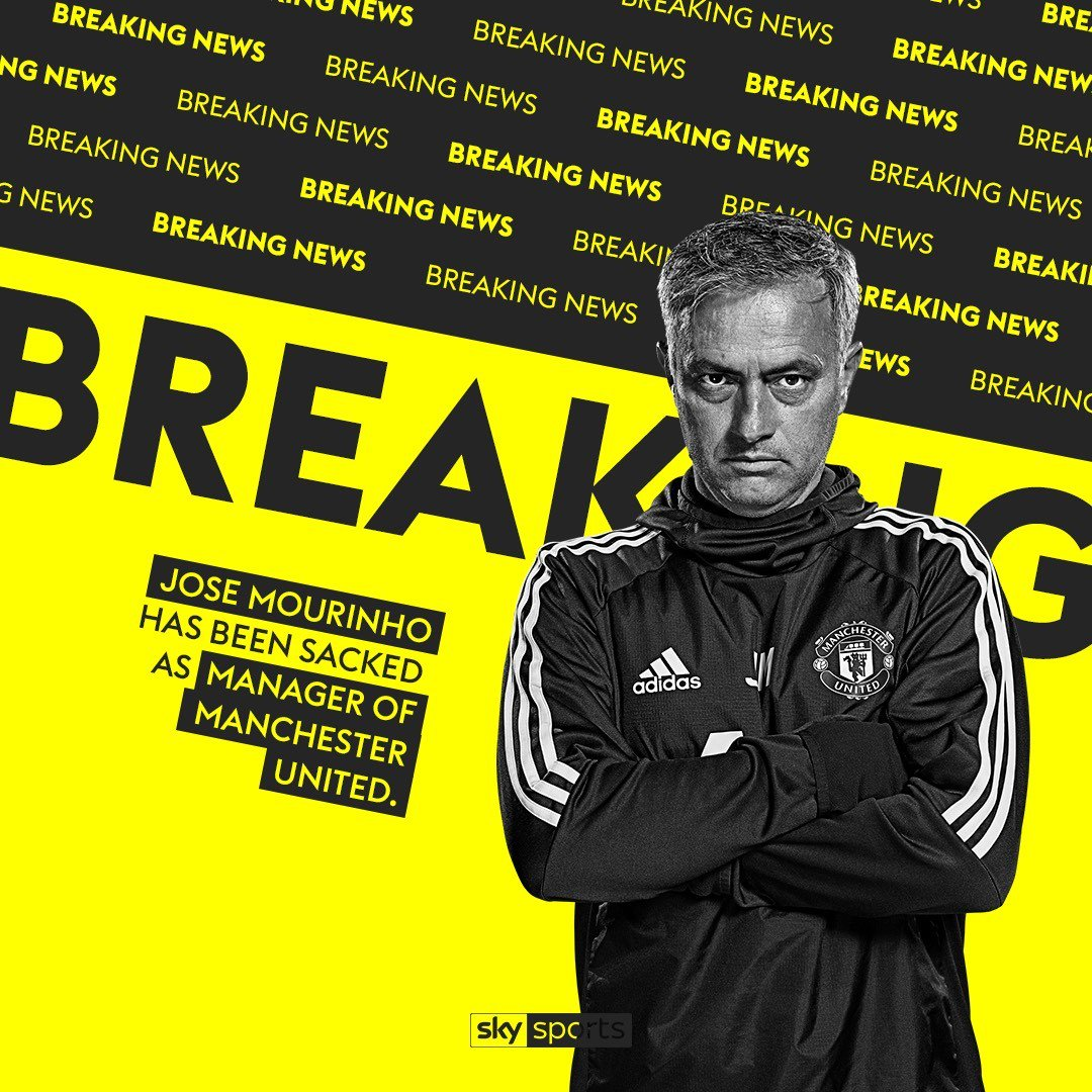 @ManUtd Jose Mourinho has been sacked by Manchester United. More here: https://t.co/cMgxUIfykQ https://t.co/Yyg9zoFSlO