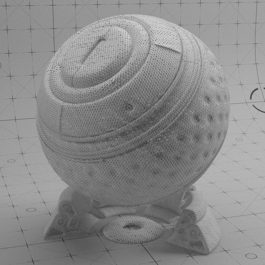 Shader Ball materials of a #Redshift material in #Cinema4D, based on