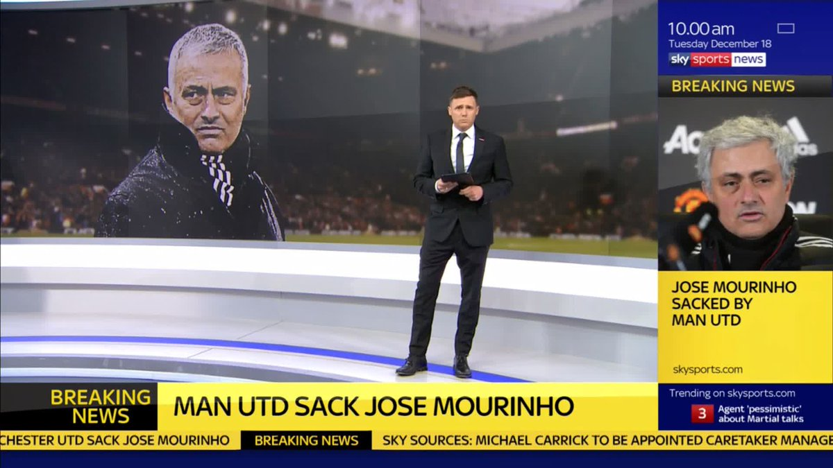 WATCH: @GNev2 gives us his reaction to Jose Mourinho's departure from Old Trafford.  Jose Mourinho has been sacked by @ManUtd: http://skysports.tv/K2MLpC  Follow updates and reaction after Jose Mourinho is sacked as @ManUtd manager here: http://skysports.tv/g4pxOH