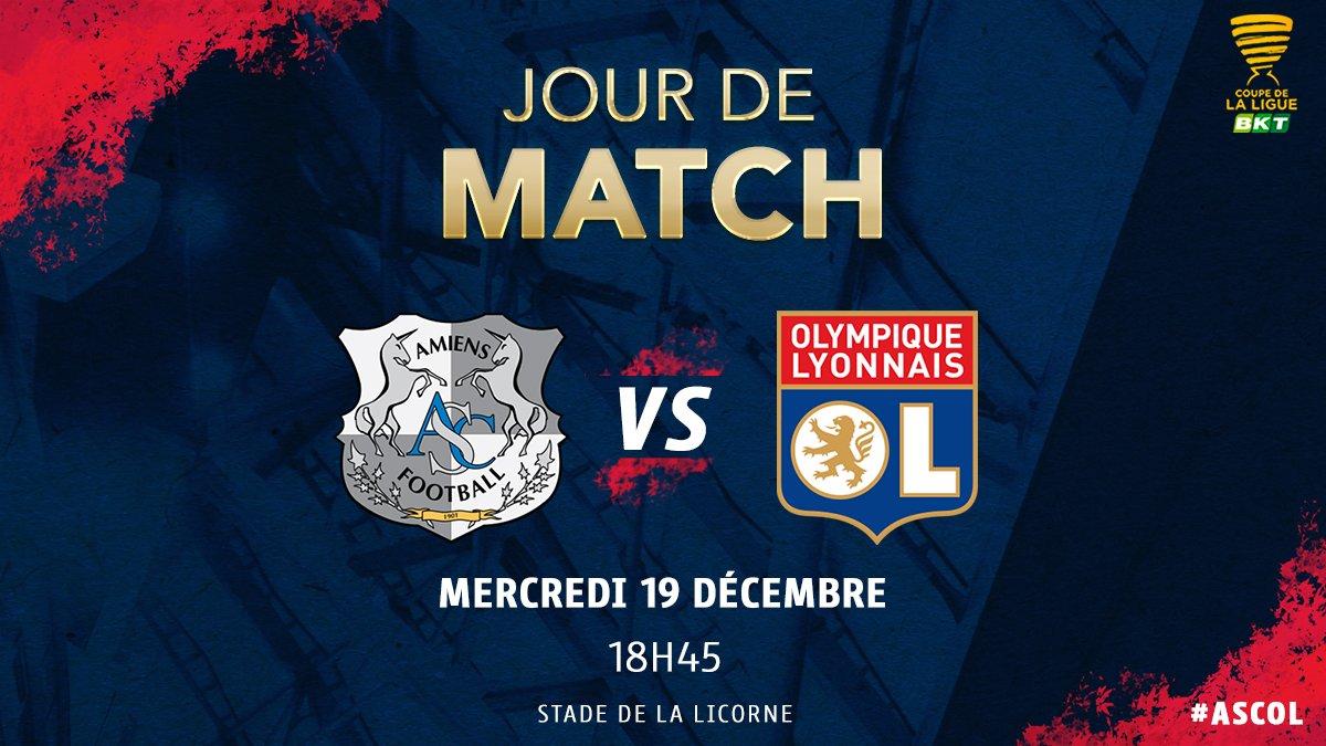 🔴 Jour de match 🔵   ⚽ #ASCOL 📅 8ème de finale de la @CoupeLigueBKT ⏰ 18h45 📺 Canal + Sport