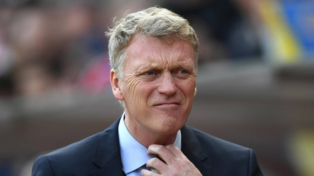 Man United v Cardiff on Saturday. It's just before kick-off and we still don't know who the new United boss is. Suddenly, the sound of glass shattering. The Stone Cold Steve Austin music hits. The crowd goes wild. A figure emerges from the tunnel. It's Moysie!