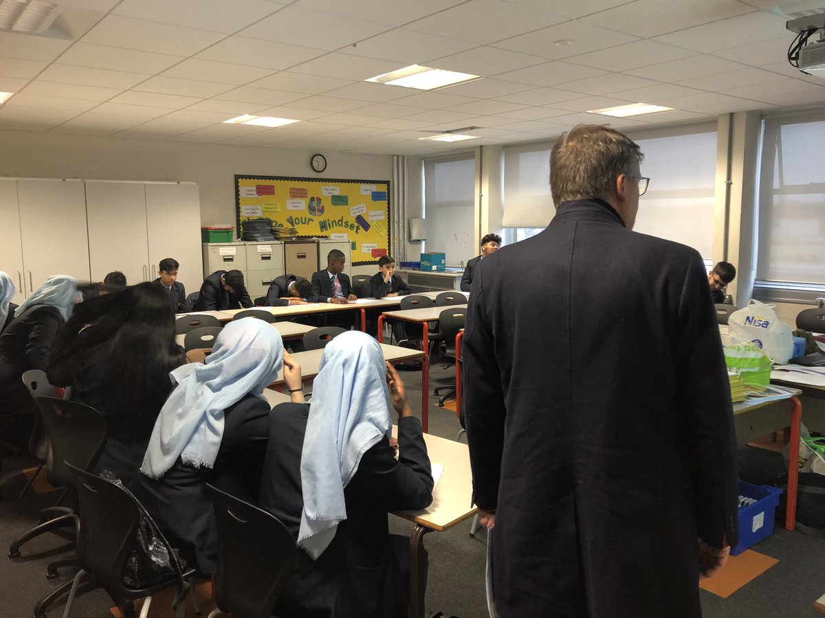Our CEO Adrian Packer CBE is taking part in @CORERockwood's #SMSC day, leading the #ExaminingGender lesson. Throughout the Trust, we practise and promote our CORE values everyday. #COREcollaboration