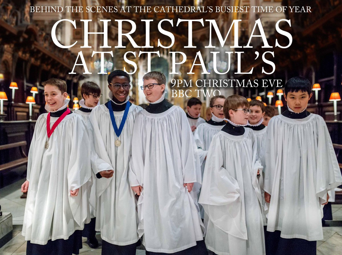 Join us behind the scenes as we prepare for our busiest days of the year in 'Christmas at St Paul's'.  Follow the Virgers as they prepare to welcome thousands at services and experience Christmas Day through the eyes of our Choristers.  Watch it on BBC 2, 9pm on Christmas Eve.
