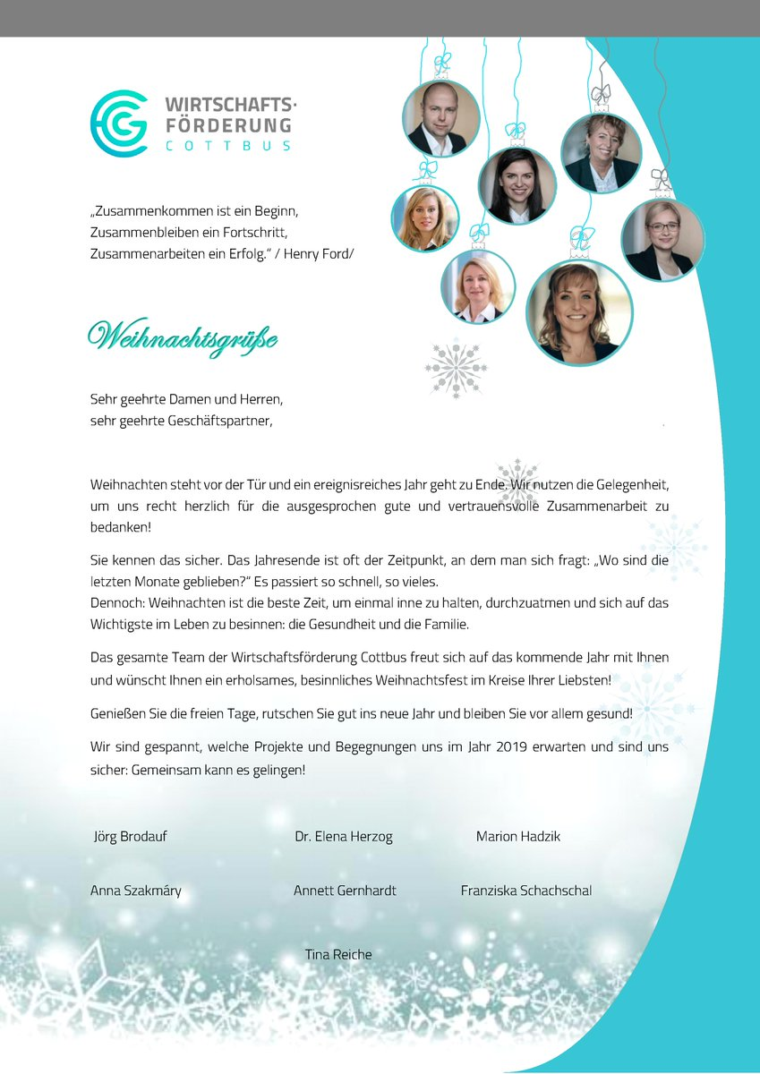 Weihnachtsfeier Ideen 2019.Wirtschaftsförderung Cottbus On Twitter Gestern Haben Wir Unsere